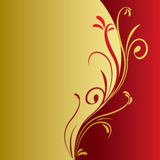 Free Floral Gold Background Stock Photos - 30055293