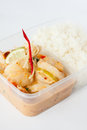 Free Thai Take Away Food, Prawn Lemon Sauce With Rice Royalty Free Stock Photos - 30061288