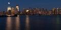 Free Manhattan Skyline At Night Stock Image - 30069731