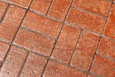 Natural Brick Walkway Royalty Free Stock Photo