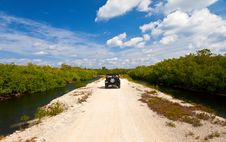 Car In Tropical Island Stock Photography