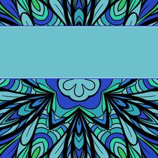 Blue-green Pattern With Stripe Royalty Free Stock Photo