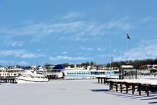 Yachts In Winter Stock Photos