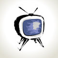 Free Vector: Old Television Drawing Royalty Free Stock Photo - 30072395