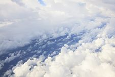 Free Cumulus Clouds Over The Atlantic Ocean Royalty Free Stock Photos - 30070708