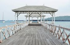 Free Beautiful Old Pavilion On Sichang Island At Chonburi Province,Th Royalty Free Stock Image - 30071826