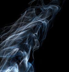 Free Light Blue Smoke Isolated On Black Stock Photography - 30079342