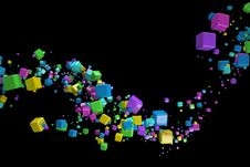 Free 3d Abstract Background Royalty Free Stock Photos - 30087088