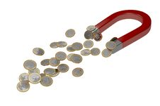 Free Magnet For Money Royalty Free Stock Images - 30087299