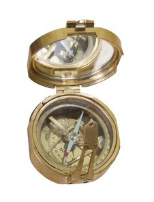 Free Bronze Metallic Old Compass Stock Image - 30089241
