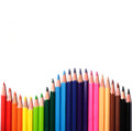 Free Multi Color Pencils On White Background Royalty Free Stock Photo - 30093155
