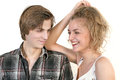 Free Portrait Of  Beautiful Happy Couple Royalty Free Stock Image - 30098166
