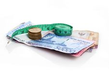 Free Rupiah With Measure Tape Royalty Free Stock Images - 30093659