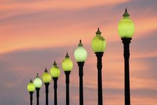 Free City Lamps Royalty Free Stock Photos - 30094748