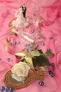 Free Wedding Cake Dolls, Rose Stock Photo - 3015970
