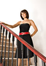 Free Woman Standing On Staircase Royalty Free Stock Photo - 3016695