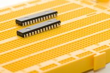 Free Microprocessor On Protoboard Stock Images - 3010284