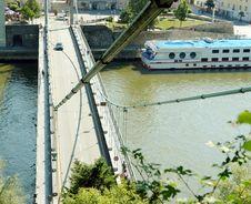 Hanged Bridge In Passau Stock Photos