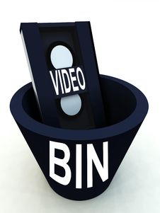 Bin The Video 7 Stock Photography