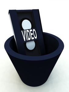 Bin The Video 10 Royalty Free Stock Image