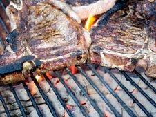 Free T-Bone On Grill Stock Image - 3012931