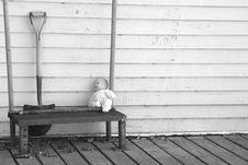 Abandoned Toy Doll Stock Image