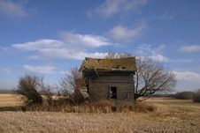 Abandoned Prairie Home Royalty Free Stock Images