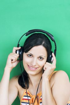 Free Girl Listening Music Royalty Free Stock Image - 3013406