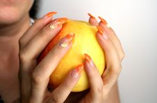 Free Apple In Female Hands Stock Photo - 3014410