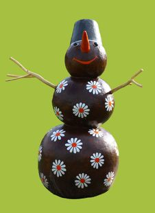 Free Smiling Chocolate Snowman Stock Photos - 3014473