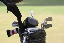 Free Golf Bag And Set Of Clubs Stock Image - 3014901