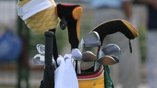 Free Golf Bag And Set Of Clubs Stock Photos - 3015153
