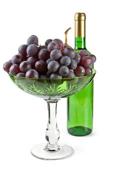 Grapes And Bottle Stock Photography