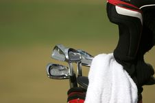 Free Golf Bag And Set Of Clubs Stock Photos - 3015253