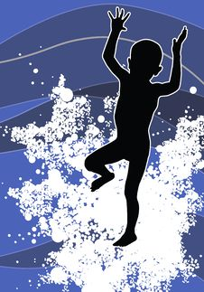 Free Child Silhouette Royalty Free Stock Photos - 3015398