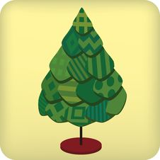 Textil Tree (vector) Royalty Free Stock Image