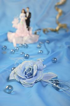Free Wedding Cake Dolls, Rose Stock Photography - 3015952