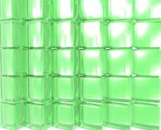 Green Gel Cubes Stock Image