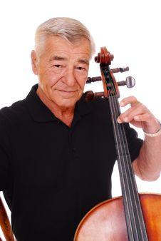 Senior Cello Player Royalty Free Stock Photo