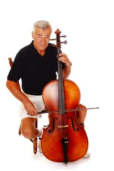 Free Senior Cello Player Royalty Free Stock Photography - 3017927