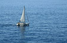 Free Yacht On The Mediterranean Royalty Free Stock Image - 3018076