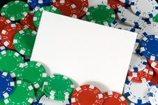 Blank Notecard Stock Image