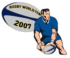 Free Rugby Player Passing Ball Stock Image - 3019271