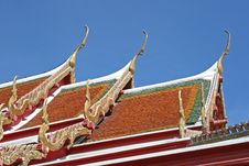 Free Temple Roof Royalty Free Stock Image - 3019366