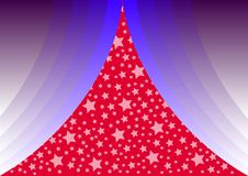 Free Blue Curtains With Stars Stock Photography - 3019562