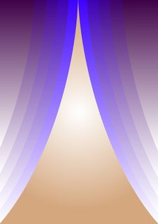 Blue Curtains Stock Image