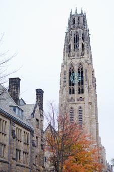 Free Autumn View Of Harkness Tower Royalty Free Stock Photography - 30101347