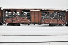 Free Charred Train. Royalty Free Stock Images - 30102379