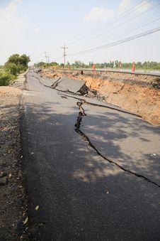 Free Cracked Asphalt Road Royalty Free Stock Photo - 30105415