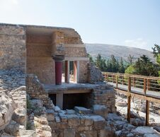 Knossos Palace At Crete, Greece. Royalty Free Stock Image